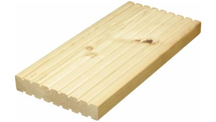 TerraWood Holzterrasse - LÄRCHE sibirisch 40 x 143mm beidseitig genutet