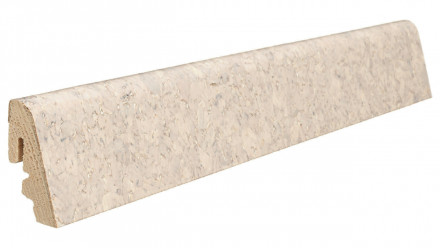 Haro Sockelleisten für Korkboden - 19 x 39 mm - Acros antikweiß/Lagos creme