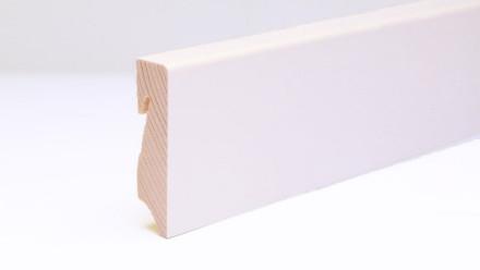 planeo Sockelleiste - Echtholz 406 weiß lackiert - 16 x 58 mm