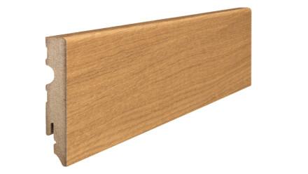 Haro Sockelleisten - Massivholz-Leisten - versiegelt - 15 x 80 mm - Eiche