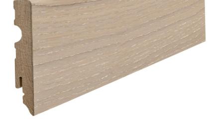 Haro Sockelleisten für Parkett Eiche salinweiß gekalkt 15 x 80 mm