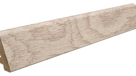 Haro Sockelleisten für Korkboden - 19 x 39 mm - Arteo Eiche weiß