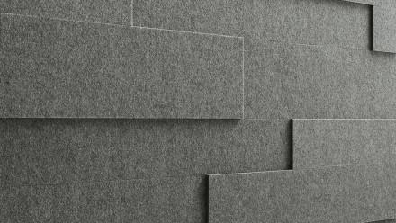 Planeo Akustikpaneele AkusticWall Filz basaltgrau 840 x 300 x 14 mm
