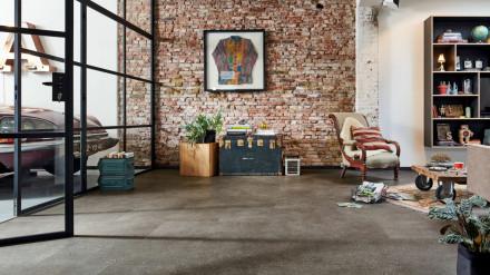 MEISTER Bio-Klick Designboden - MeisterDesign comfort DB 600 S Terrazzo dunkel 6858