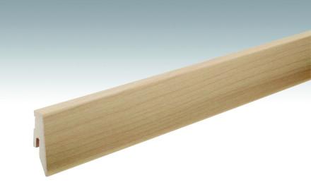 MEISTER Sockelleisten Fußleisten Ahorn 202 - 2380 x 60 x 20 mm