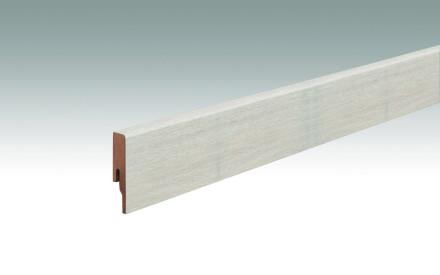 MEISTER Sockelleisten Fußleisten Eiche arcticweiß 6995 - 2380 x 60 x 16 mm