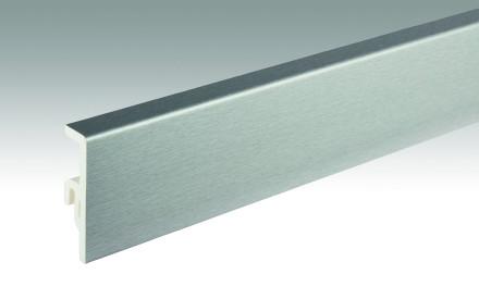 MEISTER Sockelleisten Fußleisten Edelstahl DF 063 - 2380 x 60 x 16 mm