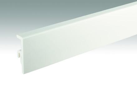 MEISTER Sockelleisten Fußleisten Uni weiß glänzend DF 324 - 2380 x 60 x 16 mm