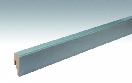 MEISTER Sockelleisten Fußleisten Schiefer grau 6333 - 2380 x 50 x 18 mm