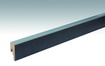 MEISTER Sockelleisten Fußleisten Metallic anthrazit 6482 - 2380 x 50 x 18 mm