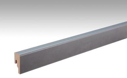 MEISTER Sockelleisten Fußleisten Metallic grau 6484 - 2380 x 50 x 18 mm