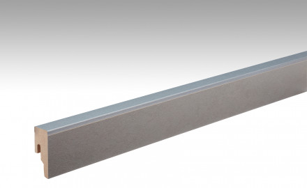 MEISTER Sockelleisten Fußleisten Metallic hellgrau 6486 - 2380 x 50 x 18 mm