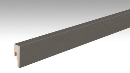 MEISTER Sockelleisten Fußleisten Metallic quarzgrau 6496 - 2380 x 50 x 18 mm