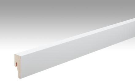 MEISTER Sockelleisten Fußleisten Uni weiß glänzend DF 324 - 2380 x 50 x 18 mm