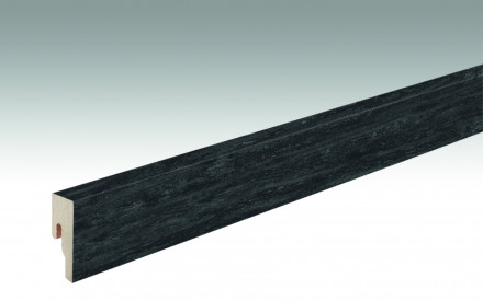 MEISTER Sockelleisten Fußleisten Black Lava 7323 - 2380 x 50 x 18 mm