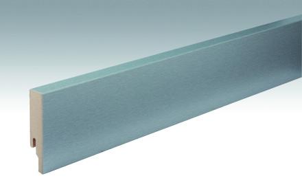MEISTER Sockelleisten Fußleisten Edelstahl DF 063 - 2380 x 80 x 18 mm