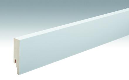 MEISTER Sockelleisten Fußleisten Weiß streichfähig DF 2222 - 2380 x 80 x 18 mm