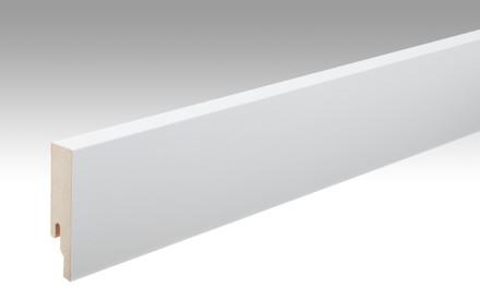 MEISTER Sockelleisten Fußleisten Uni weiß glänzend DF 324 - 2380 x 80 x 18 mm