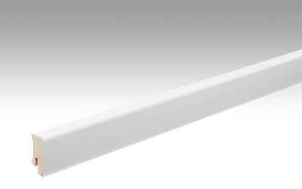MEISTER Sockelleisten Fußleisten Uni weiß glänzend DF 324 - 2380 x 38 x 16 mm