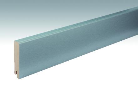 MEISTER Sockelleisten Fußleisten Edelstahl DF 063 - 2380 x 80 x 16 mm