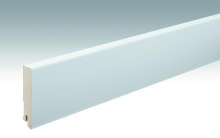 MEISTER Sockelleisten Fußleisten Weiß streichfähig DF 2222 - 2380 x 80 x 16 mm