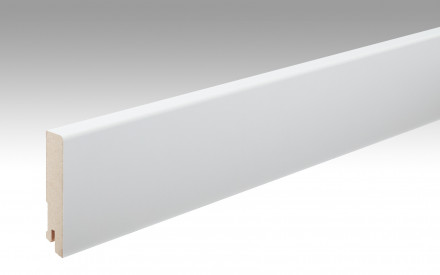 MEISTER Sockelleisten Fußleisten Uni weiß glänzend DF 324 - 2380 x 80 x 16 mm
