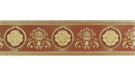 Vinyltapete Bordüre rot Vintage Ornamente Bilder Only Borders 10 618
