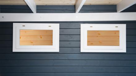 Einzel-Fenster weiß zum Öffnen