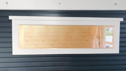 Einzel-Fenster weiß feststehend