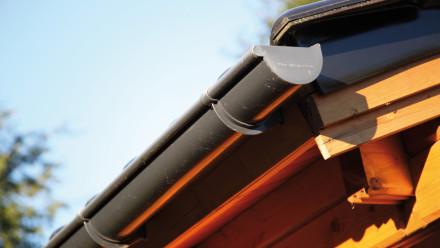 Kunststoff-Dachrinne 421Bx 300 bis 350cm anthrazit