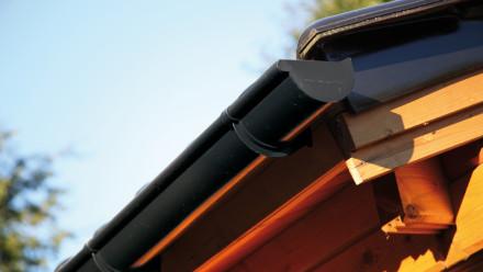 Kunststoff-Dachrinne 401A 250 bis 300cm anthrazit