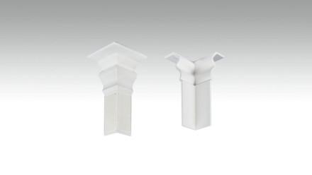 Innenecke selbstklebend für Fußleiste F100201AB Alt-Berlin Weiß 18 x 60 mm