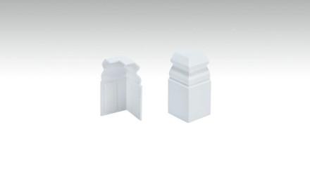 Außenecken selbstklebend für Fußleiste F100201AB Alt-Berlin Weiß 18 x 60 mm