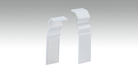 Verbindungsstück selbstklebend für Fußleiste F100201AB Alt-Berlin Weiß 18 x 60 mm