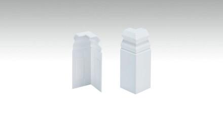 Außenecken selbstklebend für Fußleiste F100202AB Alt-Berlin Weiß 18 x 80 mm