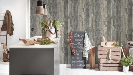Vinyltapete grau Modern Holz Best of Wood`n Stone 2nd Edition 052
