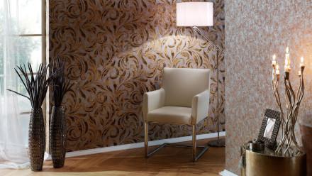 Vinyltapete Nobile Architects Paper Beige Braun Metallic 415