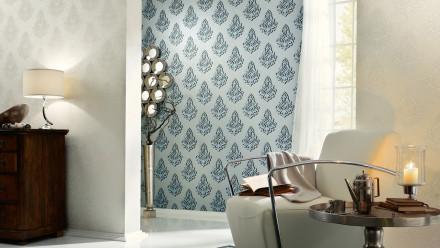 Vinyltapete Nobile Architects Paper Ornamente Creme Metallic Weiß 812