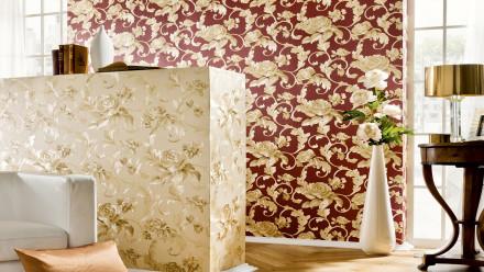 Vinyltapete Nobile Architects Paper Ornamente Metallic Rot 832