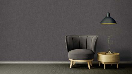 Vinyltapete Strukturtapete schwarz Modern Uni Versace 4 336
