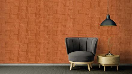 Vinyltapete Strukturtapete orange Modern Ornamente Versace 2 362