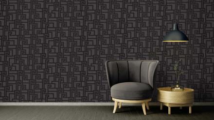 Vinyltapete Strukturtapete schwarz Modern Ornamente Versace 2 363