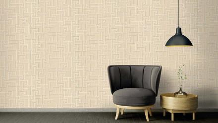 Vinyltapete Strukturtapete beige Modern Ornamente Versace 2 364