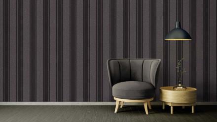 Vinyltapete Strukturtapete schwarz Retro Streifen Versace 2 373