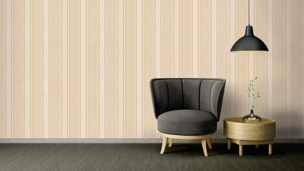 Vinyltapete Strukturtapete beige Retro Streifen Versace 2 374