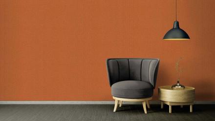 Vinyltapete Strukturtapete orange Klassisch Retro Uni Versace 2 382