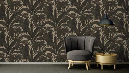 Vinyltapete braun Modern Blumen & Natur Versace 2 401