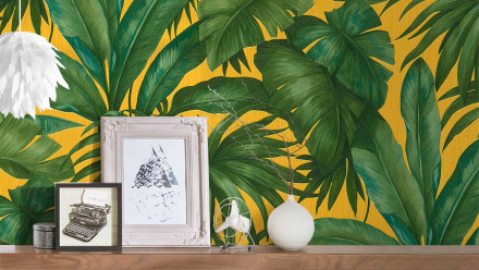 Vinyltapete grün Retro Blumen & Natur Versace 2 403