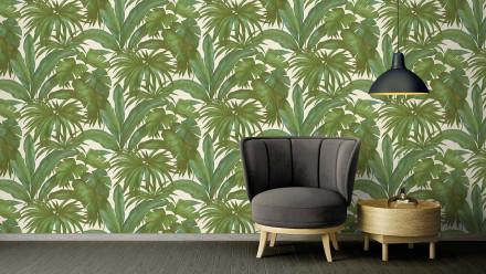 Vinyltapete grün Retro Blumen & Natur Versace 2 405