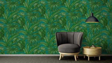 Vinyltapete grün Retro Blumen & Natur Versace 2 406